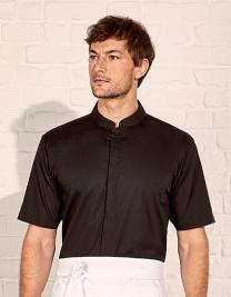 Men´s Tailored Fit Bar Shirt Mandarin Collar Short Sleeve