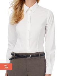 Women´s Poplin Shirt Black Tie Long Sleeve