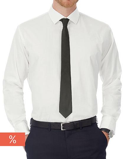 Men´s Poplin Shirt Black Tie Long Sleeve